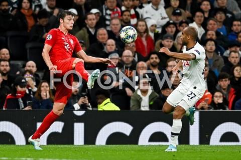 AGENCJA FOTONEWS - 01.10.2019 - LONDYNPILKA NOZNA - MECZ FAZY GRUPOWEJ LIGI MISTRZOWTOTTENHAM HOTSPUR - BAYERN MONACHIUMFootball - Champions League Group B match(Tottenham Hotspur - Bayern Munich)N/Z BENJAMIN PAVARD LUCAS MOURAFOT MATEUSZ SLODKOWSKI / FOTONEWS