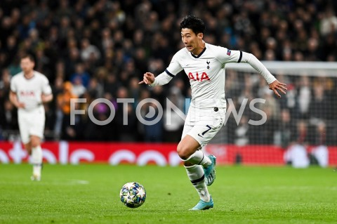 AGENCJA FOTONEWS - 01.10.2019 - LONDYNPILKA NOZNA - MECZ FAZY GRUPOWEJ LIGI MISTRZOWTOTTENHAM HOTSPUR - BAYERN MONACHIUMFootball - Champions League Group B match(Tottenham Hotspur - Bayern Munich)N/Z HEUNG MIN SON SYLWETKAFOT MATEUSZ SLODKOWSKI / FOTONEWS