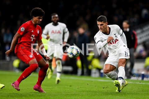 AGENCJA FOTONEWS - 01.10.2019 - LONDYNPILKA NOZNA - MECZ FAZY GRUPOWEJ LIGI MISTRZOWTOTTENHAM HOTSPUR - BAYERN MONACHIUMFootball - Champions League Group B match(Tottenham Hotspur - Bayern Munich)N/Z SERGE GNABRY ERIK LAMELAFOT MATEUSZ SLODKOWSKI / FOTONEWS