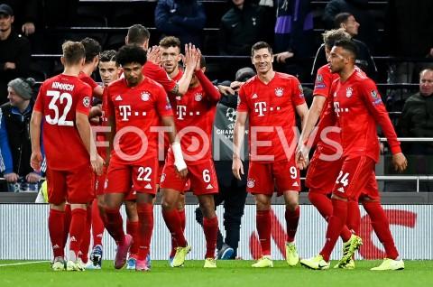 AGENCJA FOTONEWS - 01.10.2019 - LONDYNPILKA NOZNA - MECZ FAZY GRUPOWEJ LIGI MISTRZOWTOTTENHAM HOTSPUR - BAYERN MONACHIUMFootball - Champions League Group B match(Tottenham Hotspur - Bayern Munich)N/Z ROBERT LEWANDOWSKI RADOSC BRAMKA GOLFOT MATEUSZ SLODKOWSKI / FOTONEWS