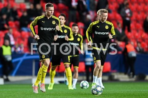 AGENCJA FOTONEWS - 02.10.2019 - PRAGAPILKA NOZNA - MECZ FAZY GRUPOWEJ LIGI MISTRZOWSLAVIA PRAGA - BORUSSIA DORTMUNDFootball - Champions League Group F match(Slavia Prague - Borussia Dortmund)N/Z LUKASZ PISZCZEK MARCO REUS ROZGRZEWKAFOT MATEUSZ SLODKOWSKI / FOTONEWS