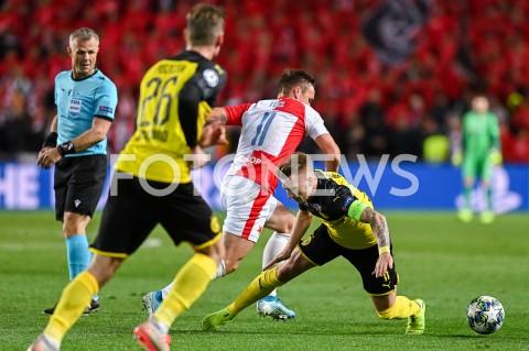 AGENCJA FOTONEWS - 02.10.2019 - PRAGAPILKA NOZNA - MECZ FAZY GRUPOWEJ LIGI MISTRZOWSLAVIA PRAGA - BORUSSIA DORTMUNDFootball - Champions League Group F match(Slavia Prague - Borussia Dortmund)N/Z STANISLAV TECL MARCO REUSFOT MATEUSZ SLODKOWSKI / FOTONEWS