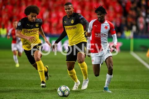 AGENCJA FOTONEWS - 02.10.2019 - PRAGAPILKA NOZNA - MECZ FAZY GRUPOWEJ LIGI MISTRZOWSLAVIA PRAGA - BORUSSIA DORTMUNDFootball - Champions League Group F match(Slavia Prague - Borussia Dortmund)N/Z AXEL WITSEL MANUEL AKANJI PETER OLAYINKAFOT MATEUSZ SLODKOWSKI / FOTONEWS