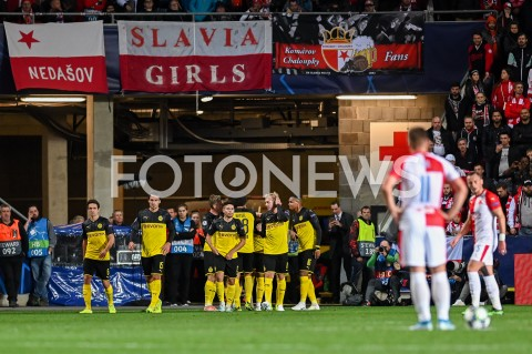 AGENCJA FOTONEWS - 02.10.2019 - PRAGAPILKA NOZNA - MECZ FAZY GRUPOWEJ LIGI MISTRZOWSLAVIA PRAGA - BORUSSIA DORTMUNDFootball - Champions League Group F match(Slavia Prague - Borussia Dortmund)N/Z ACHRAF HAKIMI RADOSC BRAMKA GOL NA 0:1FOT MATEUSZ SLODKOWSKI / FOTONEWS