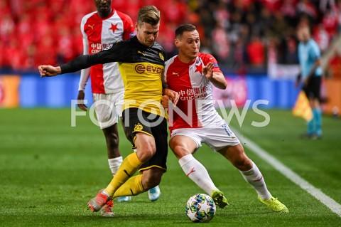 AGENCJA FOTONEWS - 02.10.2019 - PRAGAPILKA NOZNA - MECZ FAZY GRUPOWEJ LIGI MISTRZOWSLAVIA PRAGA - BORUSSIA DORTMUNDFootball - Champions League Group F match(Slavia Prague - Borussia Dortmund)N/Z LUKASZ PISZCZEK JAN BORILFOT MATEUSZ SLODKOWSKI / FOTONEWS