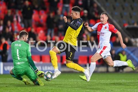 AGENCJA FOTONEWS - 02.10.2019 - PRAGAPILKA NOZNA - MECZ FAZY GRUPOWEJ LIGI MISTRZOWSLAVIA PRAGA - BORUSSIA DORTMUNDFootball - Champions League Group F match(Slavia Prague - Borussia Dortmund)N/Z ONDREJ KOLAR JADON SANCHO JAN BORILFOT MATEUSZ SLODKOWSKI / FOTONEWS