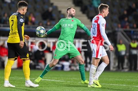 AGENCJA FOTONEWS - 02.10.2019 - PRAGAPILKA NOZNA - MECZ FAZY GRUPOWEJ LIGI MISTRZOWSLAVIA PRAGA - BORUSSIA DORTMUNDFootball - Champions League Group F match(Slavia Prague - Borussia Dortmund)N/Z ONDREJ KOLAR SYLWETKAFOT MATEUSZ SLODKOWSKI / FOTONEWS