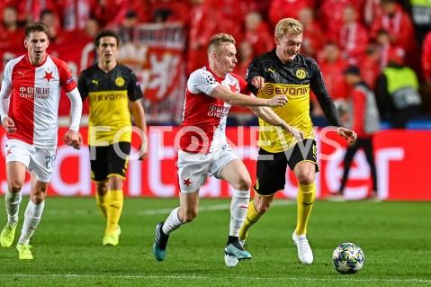 AGENCJA FOTONEWS - 02.10.2019 - PRAGAPILKA NOZNA - MECZ FAZY GRUPOWEJ LIGI MISTRZOWSLAVIA PRAGA - BORUSSIA DORTMUNDFootball - Champions League Group F match(Slavia Prague - Borussia Dortmund)N/Z PETR SEVCIK JULIAN BRANDTFOT MATEUSZ SLODKOWSKI / FOTONEWS