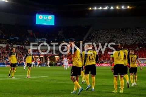 AGENCJA FOTONEWS - 02.10.2019 - PRAGAPILKA NOZNA - MECZ FAZY GRUPOWEJ LIGI MISTRZOWSLAVIA PRAGA - BORUSSIA DORTMUNDFootball - Champions League Group F match(Slavia Prague - Borussia Dortmund)N/Z ACHRAF HAKIMI RADOSC BRAMKA GOL NA 0:2FOT MATEUSZ SLODKOWSKI / FOTONEWS