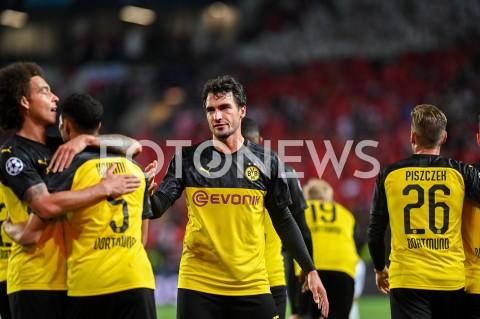 AGENCJA FOTONEWS - 02.10.2019 - PRAGAPILKA NOZNA - MECZ FAZY GRUPOWEJ LIGI MISTRZOWSLAVIA PRAGA - BORUSSIA DORTMUNDFootball - Champions League Group F match(Slavia Prague - Borussia Dortmund)N/Z ACHRAF HAKIMI RADOSC BRAMKA GOL NA 0:2 AXEL WITSEL MATS HUMMELSFOT MATEUSZ SLODKOWSKI / FOTONEWS