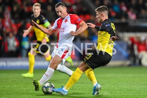 AGENCJA FOTONEWS - 02.10.2019 - PRAGAPILKA NOZNA - MECZ FAZY GRUPOWEJ LIGI MISTRZOWSLAVIA PRAGA - BORUSSIA DORTMUNDFootball - Champions League Group F match(Slavia Prague - Borussia Dortmund)N/Z JAN BORIL THORGEN HAZARDFOT MATEUSZ SLODKOWSKI / FOTONEWS