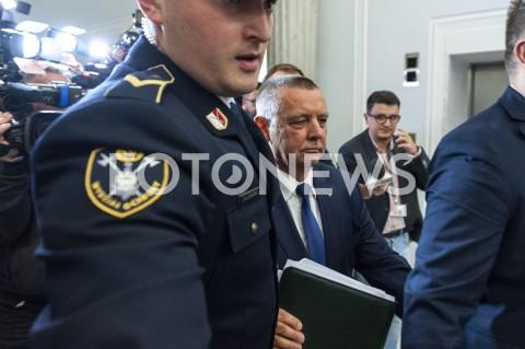 Marian Banaś na posiedzeniu sejmowej komisji ds. kontroli państwowej w Warszawie