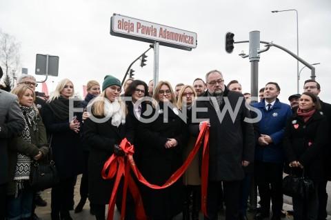 Uroczystość nadania nazwy alei Pawła Adamowicza w Gdańsku