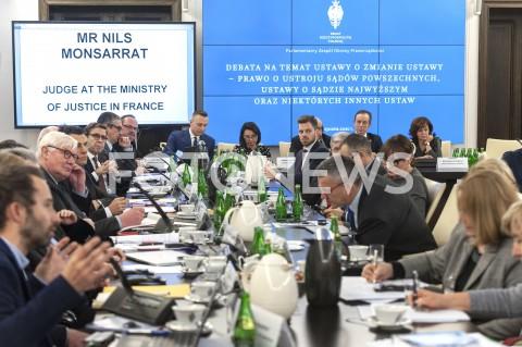 Posiedzenie parlamentarnego zespołu obrony praworządności w Warszawie