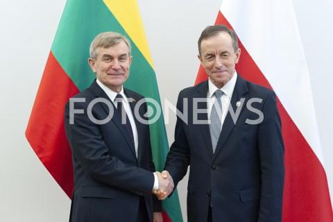 Wizyta przewodniczącego Seimasu Viktorasa Pranckietisa w Warszawie