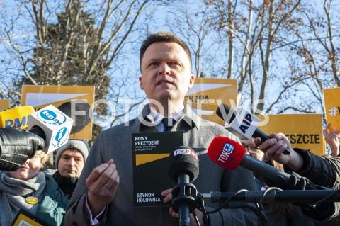 Prezentacja programu wyborczego Szymona Hołowni w Warszawie
