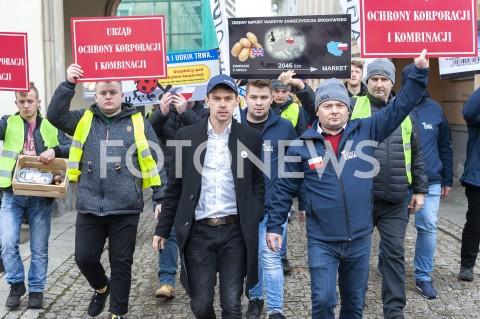 Protest rolników Agrounii w Warszawie