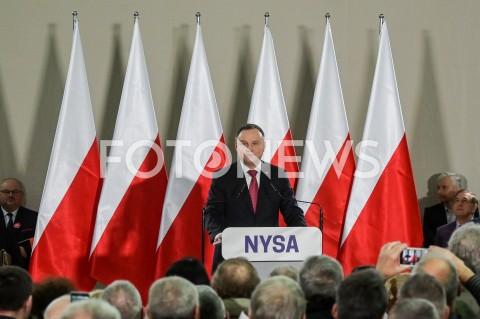 Spotkanie Prezydenta RP Andrzeja Dudy z mieszkańcami w Nysie