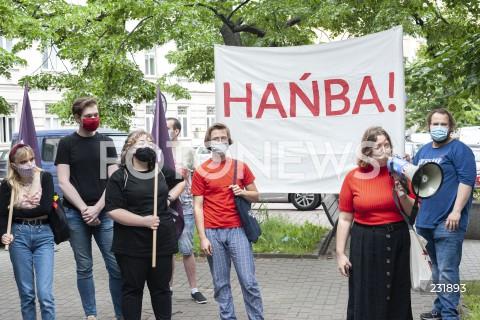 Protest pamięci Igora Stachowiaka przeciwko bezkarności policji w Warszawie