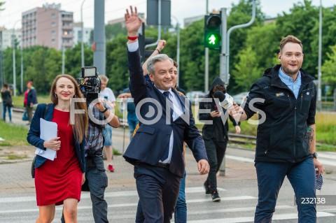 Debata prezydencka w Telewizji Polskiej w Warszawie