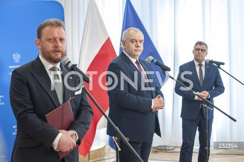 Konferencja ministrów nt. sytuacji epidemicznej na Śląsku w Warszawie