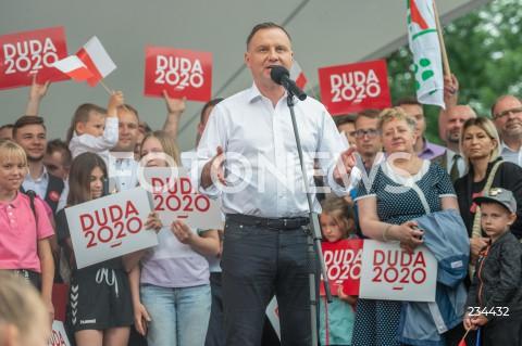 Spotkanie prezydenta RP Andrzeja Dudy z mieszkańcami Kwidzyna