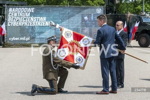 Nadanie sztandaru Narodowemu Centrum Bezpieczeństwa Cyberprzestrzeni w Warszawie