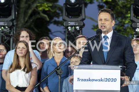 Wieczór wyborczy Rafała Trzaskowskiego w Warszawie
