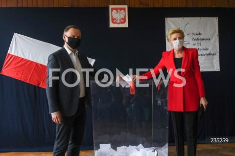 Andrzej Duda zagłosował w wyborach prezydenckich w Krakowie