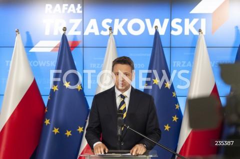 Konferencja Rafała Trzaskowskiego w Warszawie