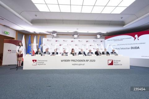 Konferencja Państwowej Komisji Wyborczej w Warszawie