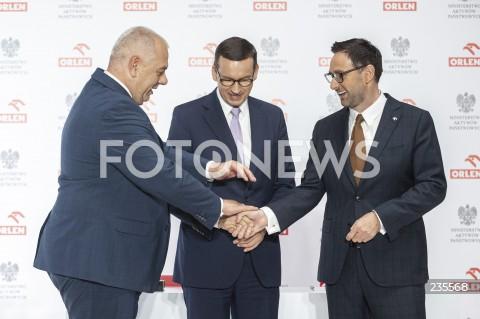 Konferencja PKN Orlen nt. projektów rozwojowych spółki w Warszawie