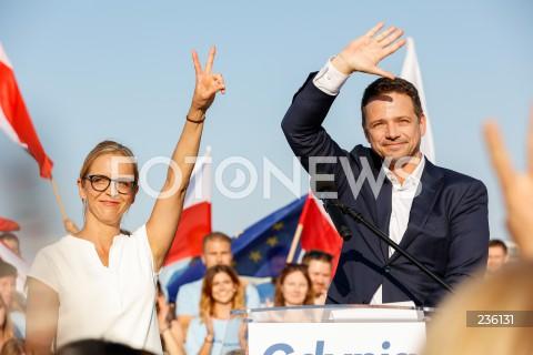Zakończenie kampanii prezydenckiej Rafała Trzaskowskiego w Gdyni