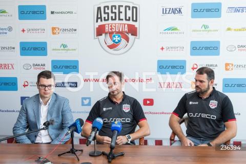 Konferencja Asseco Resovii Rzeszów z udziałem nowego prezesa i trenera w Rzeszowie