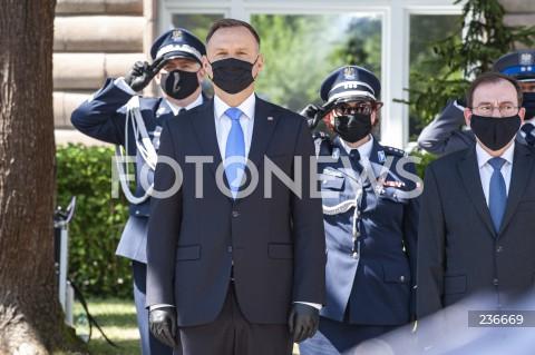 25.07.2020 WARSZAWA<br />SWIETO POLICJI <br />N/Z PREZYDENT ANDRZEJ DUDA MARIUSZ KAMINSKI<br />