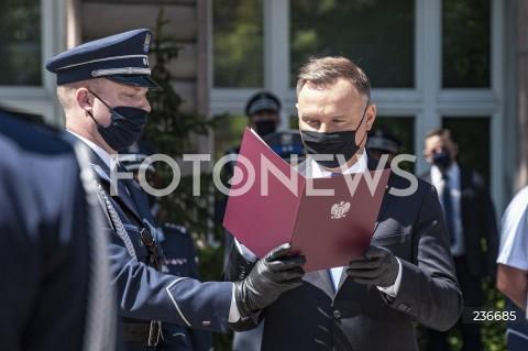 25.07.2020 WARSZAWA<br />SWIETO POLICJI <br />N/Z PREZYDENT ANDRZEJ DUDA<br />