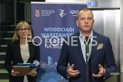 Konferencja MPWiK nt. awarii oczyszczalni w Warszawie