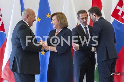 Spotkanie prasowe z udziałem ministrów finansów państw Grupy Wyszehradzkiej w Warszawie