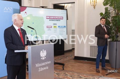 Konferencja w Ministerstwie Zdrowia w Warszawie