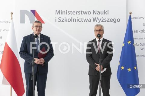 Konferencja ministra nauki i szkolnictwa wyższego w Warszawie