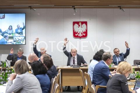Posiedzenie sejmowych komisji w Warszawie