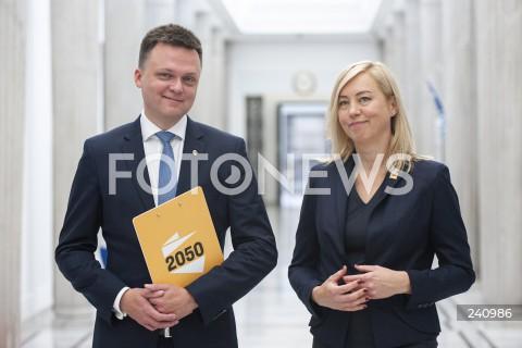 Konferencja prasowa Ruchu Polska 2050 w Sejmie w Warszawie