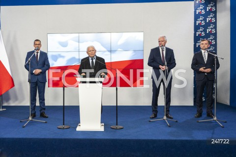 Podpisanie nowej umowy koalicyjnej Zjednoczonej Prawicy w Warszawie