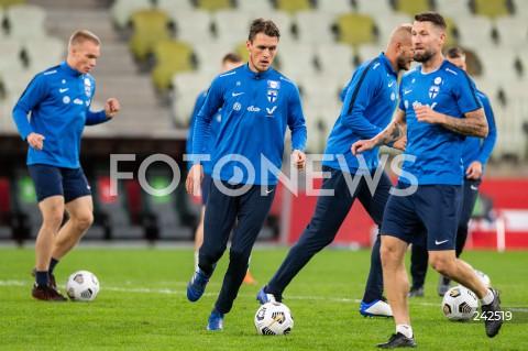 Konferencja prasowa i trening reprezentacji Finlandii piłkarzy