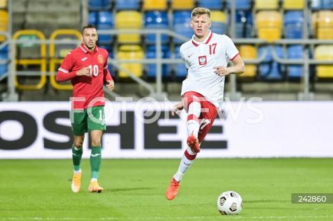 13.10.2020 GDYNIA<br />PILKA NOZNA - KWALIFIKACJE DO MISTRZOSTW EUROPY U-21<br />POLSKA - BULGARIA<br />Football - U-21 European Championships 2021 Qualifiers<br />Poland - Bulgaria<br />N/Z MATEUSZ BOGUSZ SYLWETKA<br />