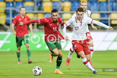 13.10.2020 GDYNIA<br />PILKA NOZNA - KWALIFIKACJE DO MISTRZOSTW EUROPY U-21<br />POLSKA - BULGARIA<br />Football - U-21 European Championships 2021 Qualifiers<br />Poland - Bulgaria<br />N/Z STANISLAV IVANOV JAKUB KAMINSKI<br />