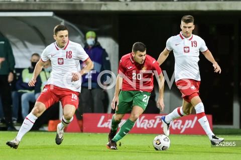 13.10.2020 GDYNIA<br />PILKA NOZNA - KWALIFIKACJE DO MISTRZOSTW EUROPY U-21<br />POLSKA - BULGARIA<br />Football - U-21 European Championships 2021 Qualifiers<br />Poland - Bulgaria<br />N/Z BARTOSZ SLISZ DOMINIC YANKOV KAROL FILA<br />