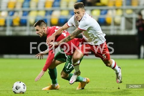13.10.2020 GDYNIA<br />PILKA NOZNA - KWALIFIKACJE DO MISTRZOSTW EUROPY U-21<br />POLSKA - BULGARIA<br />Football - U-21 European Championships 2021 Qualifiers<br />Poland - Bulgaria<br />N/Z KALOYAN KRASTEV JAKUB KIWIOR<br />