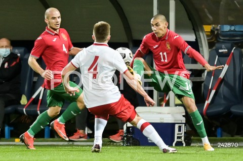 13.10.2020 GDYNIA<br />PILKA NOZNA - KWALIFIKACJE DO MISTRZOSTW EUROPY U-21<br />POLSKA - BULGARIA<br />Football - U-21 European Championships 2021 Qualifiers<br />Poland - Bulgaria<br />N/Z ANGEL LYASKOV ZDRAVKO DIMITROV<br />