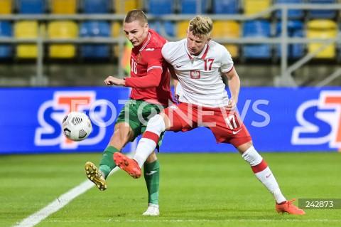 13.10.2020 GDYNIA<br />PILKA NOZNA - KWALIFIKACJE DO MISTRZOSTW EUROPY U-21<br />POLSKA - BULGARIA<br />Football - U-21 European Championships 2021 Qualifiers<br />Poland - Bulgaria<br />N/Z VALENTIN ANTOV MATEUSZ BOGUSZ<br />